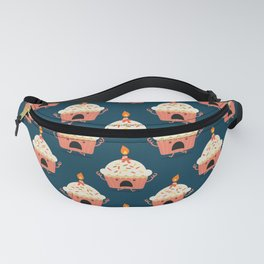 Cupcake on fire Fanny Pack