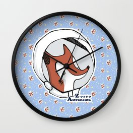 Zorro Astronauta  Wall Clock
