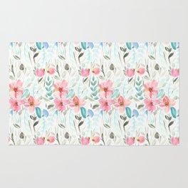 Garden Watercolour Floral Rug