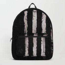 White Grunge American flag Backpack