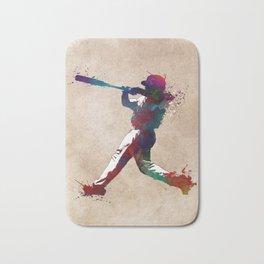 Baseball player 10 #baseball #sport Bath Mat