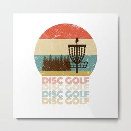 Disc Golf Discgolf Vintage Design Metal Print