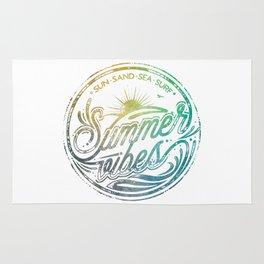 Summer vibes - typo artwork Rug