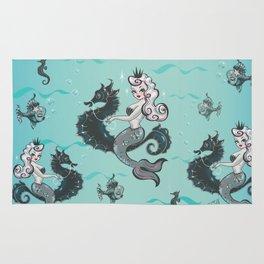 Pearla on Seahorse Rug