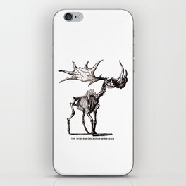 Irish Elk Skeleton iPhone Skin