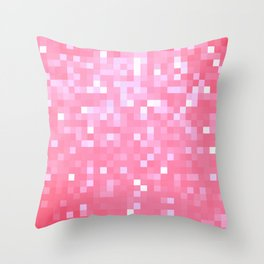 Bubblegum Pink Pixel Sparkle Throw Pillow