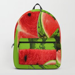 RED WATERMELON GREEN PICNIK ART Backpack