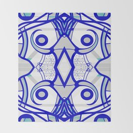 Blue morning - abstract decorative pattern Throw Blanket