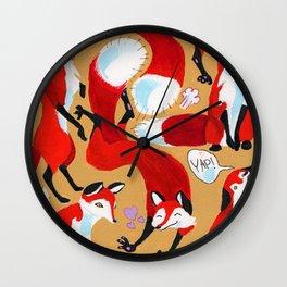 Fox Bunch Wall Clock
