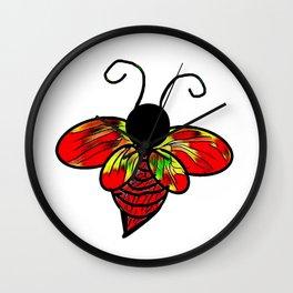 Red Bee Wall Clock