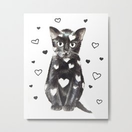 Kitten illustration Metal Print
