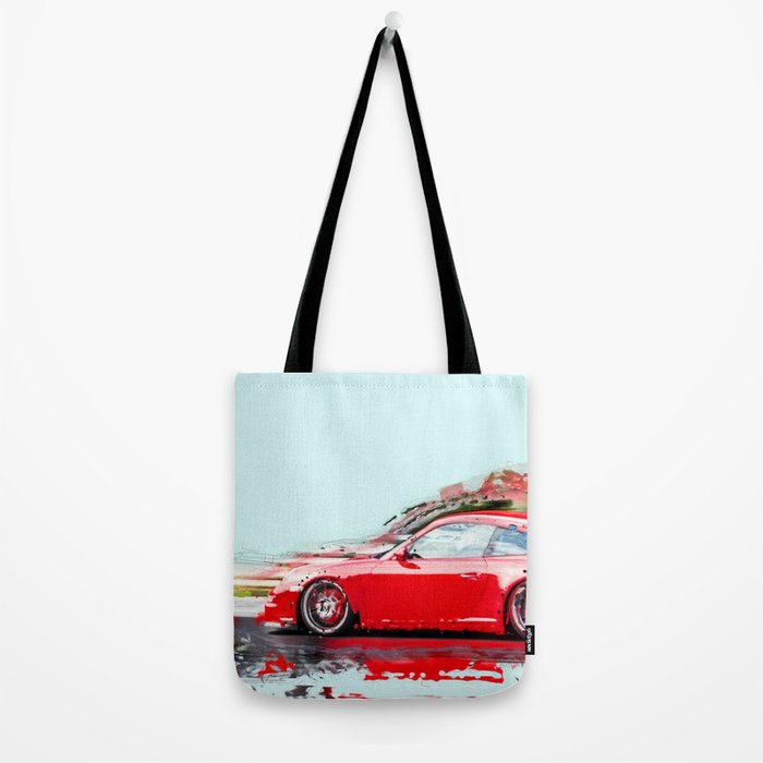 The Red Porsche Tote Bag