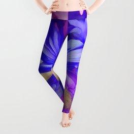 311 - Abstract Flower design Leggings
