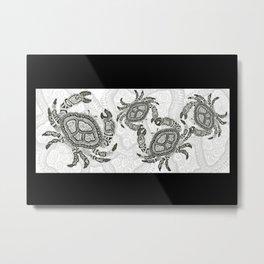 Dancing Crabs Metal Print