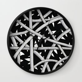 Cords and Spikes Wall Clock