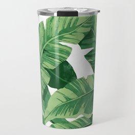 Tropical banana leaves IV Travel Mug