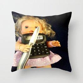 Miss Merry Sunshine Throw Pillow