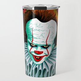 The Dancing Clown - Pennywise IT - Vector - Stephen King Character Travel Mug