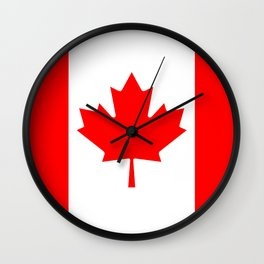 Canadian National flag, Authentic color and 3:5 scale version Wall Clock