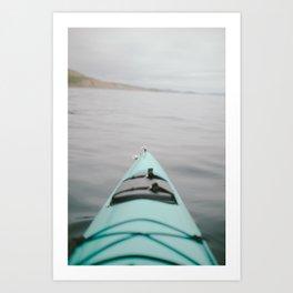 sea kayak Art Print
