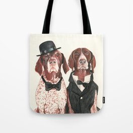 german short hair pointers - F.I.P. @ifitwags (The pointer brothers) Tote Bag