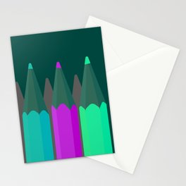 Coloring Pencils Stationery Cards
