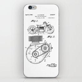 Motorcycle Patent Art iPhone Skin