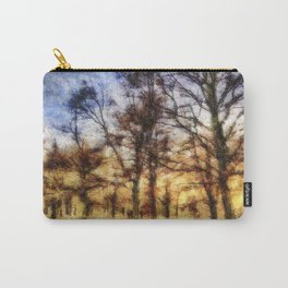 Pastel Sunset Trees Carry-All Pouch