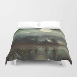 Midnight Fireflies Duvet Cover