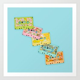 Retro Mix Tape Art Print