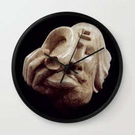 Blowing the Shofar by Shimon Drory Wall Clock