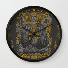 IBERIAN HECATE gray Wall Clock