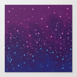 Bi Pride Flag Galaxy Canvas Print