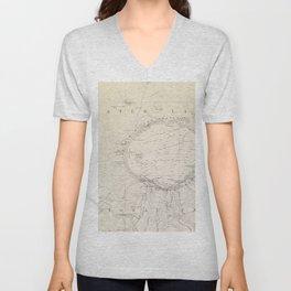 Crater Lake Vintage Map Unisex V-Neck