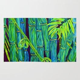 ʻOhe Polū - Blue Bamboo Rug