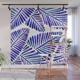 Tropical Banana Leaves – Indigo Palette Wall Mural