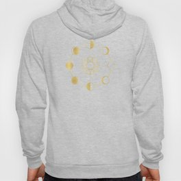 Gold Moon and Sun Phases Hoody