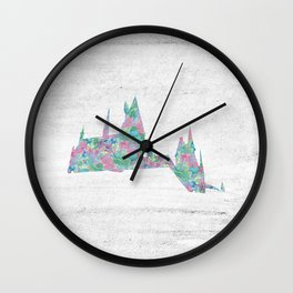 Hogwarts School of Witchcraft and Wizardry Floral Pattern Wall Clock