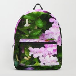 Glowing Violet Trumpets Backpack