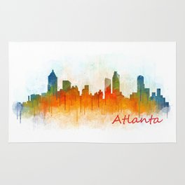 Atlanta City Skyline Hq v3 Rug