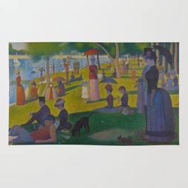 A Sunday Afternoon on the Island of La Grande Jatte Painting by Georges Seurat Pointillism Rug