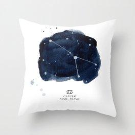 Zodiac Star Constellation - Cancer Throw Pillow