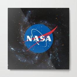 Nasa shirt Officially Licensed NASA Logo gift ideas Metal Print