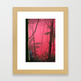 Jungle in Pink Fog Framed Art Print