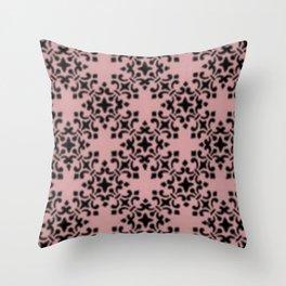 Vintage Brocade Damask Bridal Rose Throw Pillow