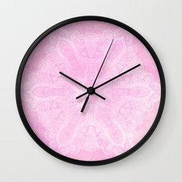 light pink mandala Wall Clock