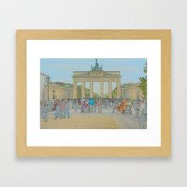 Berlin - Brandenburger Tor Framed Art Print