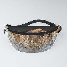 Fire and Ice Citrine crystals Fanny Pack