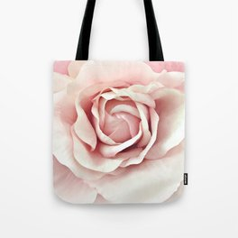 Shabby Chic Pastel Pink Rose Tote Bag