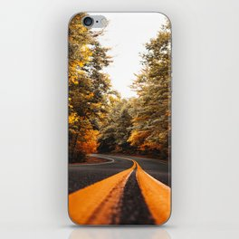 on the road in vermont iPhone Skin